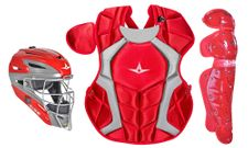 All-Star Youth Scarlet Axis Pro System 7 Series Catcher's Kit CKCC912S7XSC