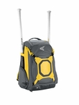 Easton Gray & Yellow Walk-Off IV Ball Backpack A159027GYYL