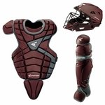 Easton M10 Custom Color Catcher's Set Youth - Maroon / Silver