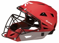 Easton Red/Silver M10 Catcher's Helmet A165331 -- Large