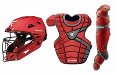 Easton Red/Silver Youth M10 Catcher's Set A165341