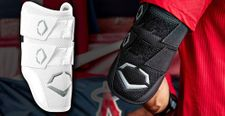EvoShield Pro-SRZ White Batter's Double Strap Elbow Guard WB5706602