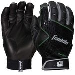 Franklin 2nd Skinz Adult Black Batting Gloves