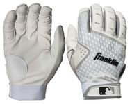 Franklin 2nd Skinz White Adult Batting Gloves