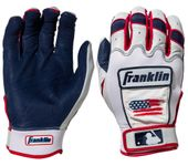 Franklin CFX Chrome Limited Edition 4th of July Adult Batting Gloves 21651FX