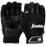 Franklin Shok-Sorb X Black Adult Batting Gloves 20966FX