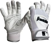 Franklin Adult White Shok-Sorb X Batting Gloves