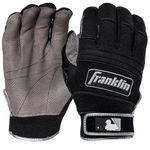 Franklin All Weather Pro Adult Gray/Black Batting Gloves