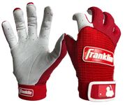 Franklin Pro Classic Adult Pearl/Red Batting Gloves