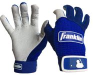 Franklin Pro Classic Adult Pearl/Royal Batting Gloves