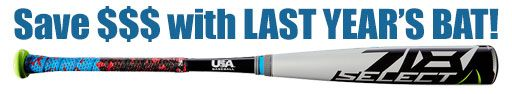 "Louisville Select 718 2-5/8"" Youth USA Bat WTLUBS718B10 -10oz (2018) -- 31 Inch Only"