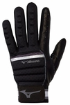 Mizuno Black/Charcoal Adult B-130 Batting Gloves 330395
