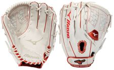 Mizuno MVP Prime SE Fastpitch Series White/Red Gloves
