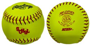"Rawlings 12"" ASA NFHS Series Optic Yellow Softballs PX2RYL-SC -- 1 DZ"