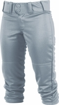 Rawlings Girls/Women's Low-Rise Blue Gray Softball Pants WRB150G-BG
