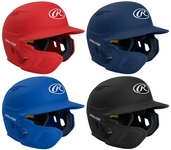 Rawlings Junior Mach Batting Helmet with Flap - Left Hand Batter