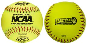 "Rawlings 12"" NCAA Optic Yellow Softballs NC12L-HRT -- 1 DZ"