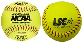 "Rawlings 12"" NCAA Optic Yellow Softballs NC12L-LS -- 1 DZ"