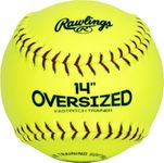 "Rawlings 14"" Oversized Pitcher's Optic Yellow Training Softball 14SOFTBALL"