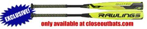 "Rawlings Quatro 2-5/8"" BBCOR Bat BB8Q -3oz -- 32"" Only"