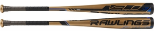 "Rawlings Velo 2-5/8"" BBCOR Bat BB9V3 -3oz (2019) -- 31 Inch Only"