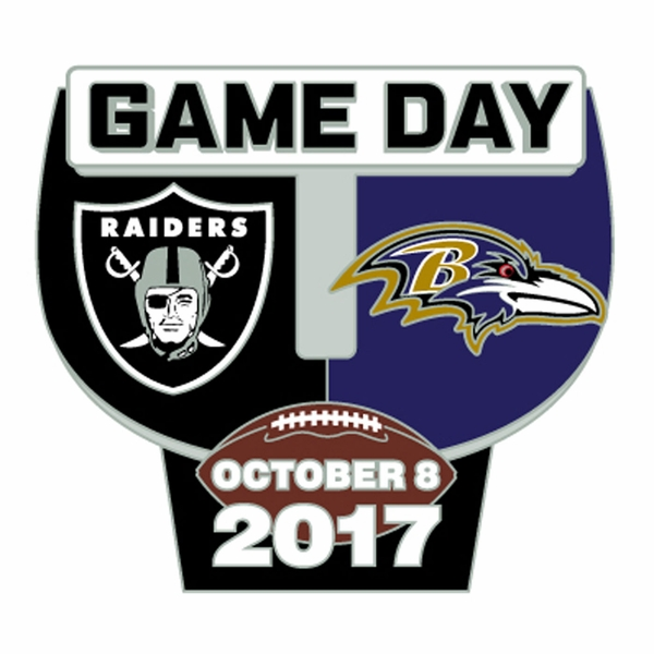 2017 Raiders vs. Baltimore Ravens Game Day Lapel Pin