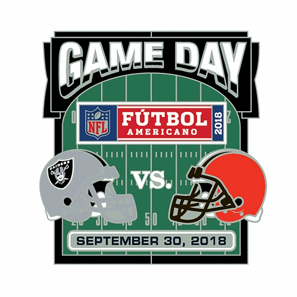 2018 Raiders vs. Cleveland Browns Game Day Lapel Pin