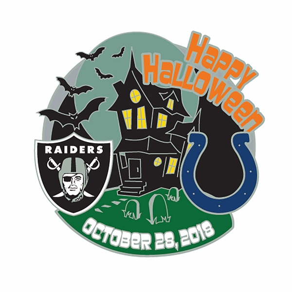 2018 Raiders vs. Indianapolis Colts Game Day Lapel Pin