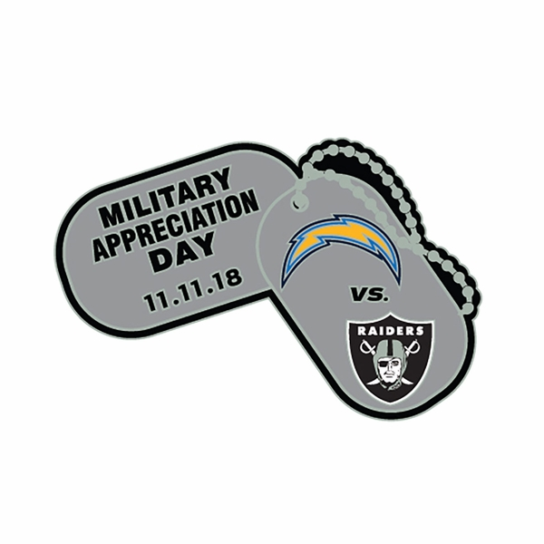2018 Raiders vs. Los Angeles Chargers Game Day Lapel Pin