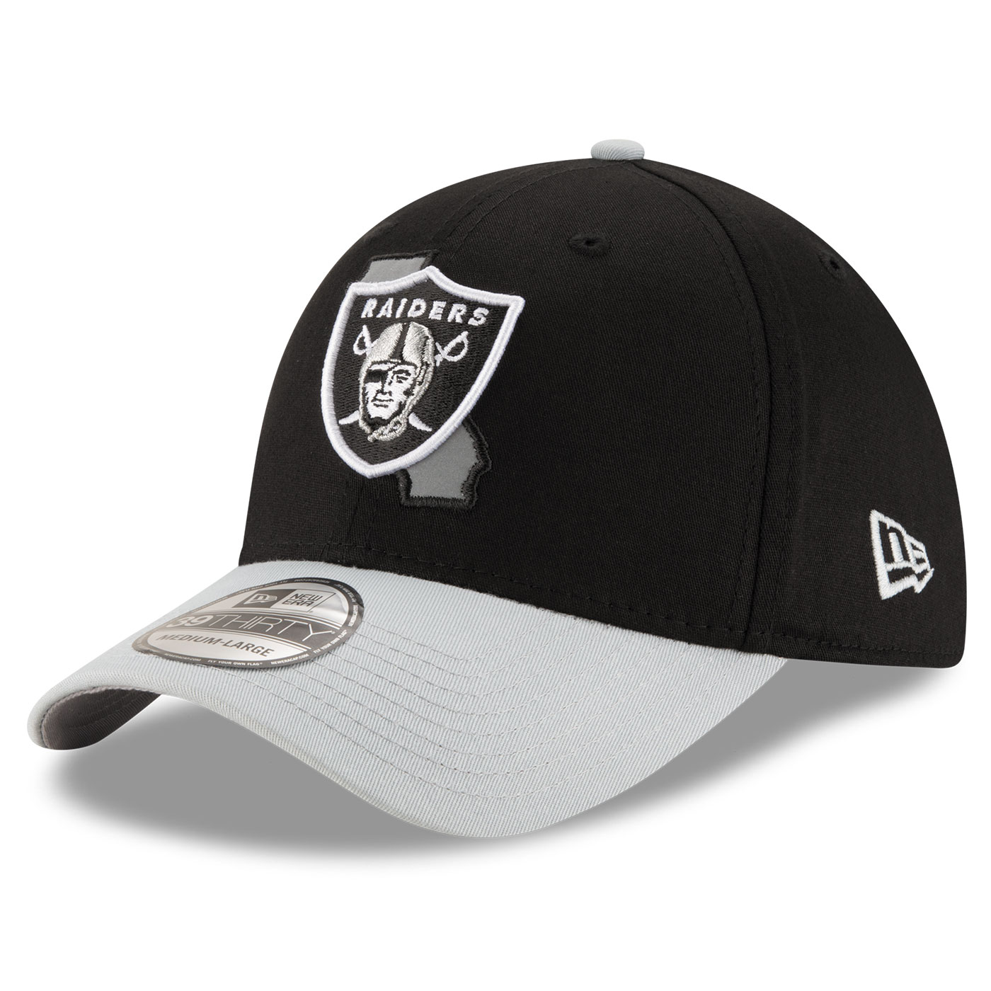 Raiders New Era 39Thirty State Reflective Cap ed8c04bf464c