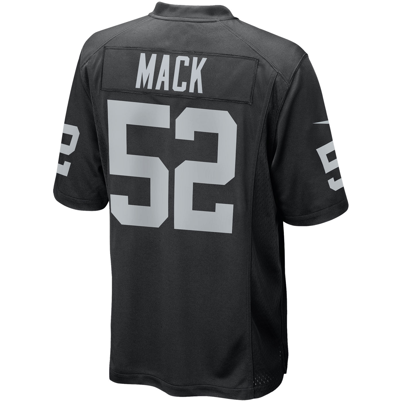 38a0ada6b Raiders Nike Khalil Mack Black Game Jersey