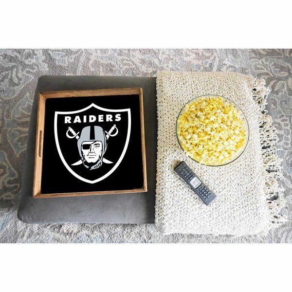 Raiders 16 x 16 Black Shield Tray
