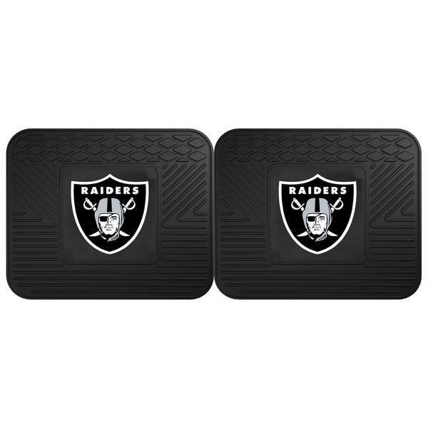 Raiders 2 Pack Utility Rear Car Mats