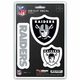 Raiders 3 Pack Die-Cut Decals