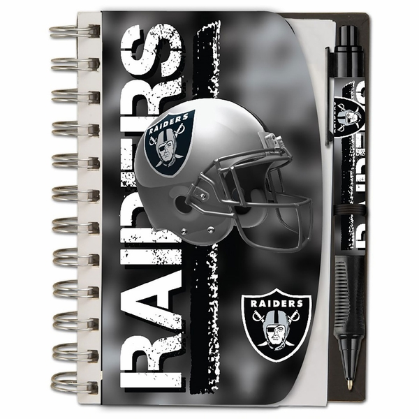 Raiders 4 x 6 Notebook & Pen Set
