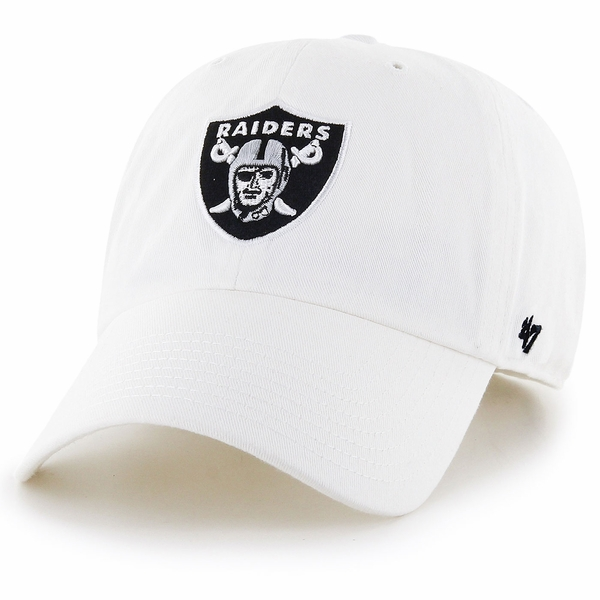 Raiders 47 Brand Clean Up White Cap