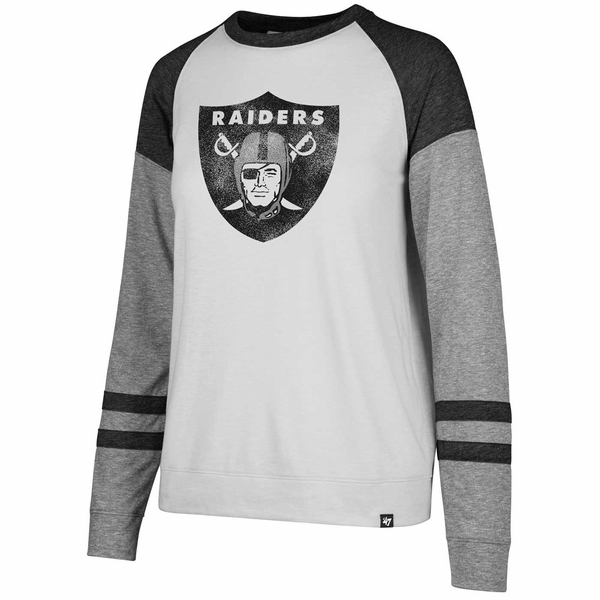 Raiders 47 Brand Match Tri Blend Long Sleeve Tee