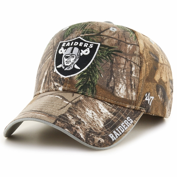 Raiders 47 Brand MVP Real Tree Logo Cap