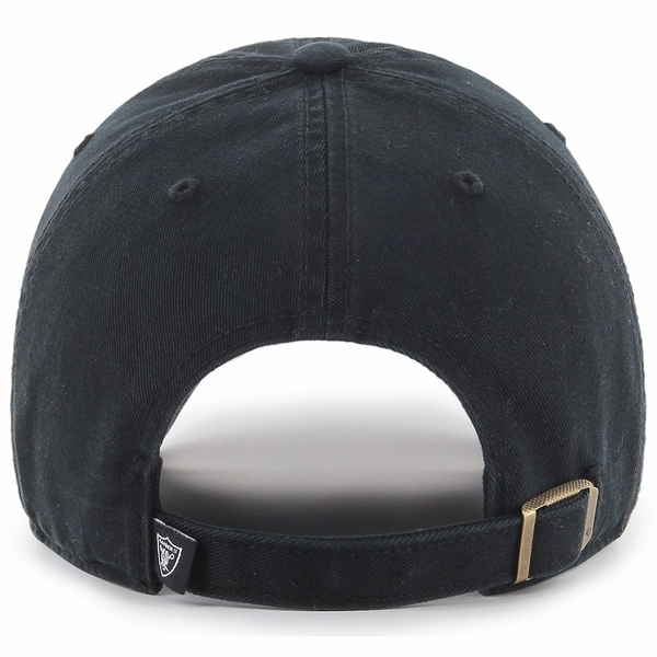 Raiders 47 Brand Primary Clean Up Tonal Black Cap
