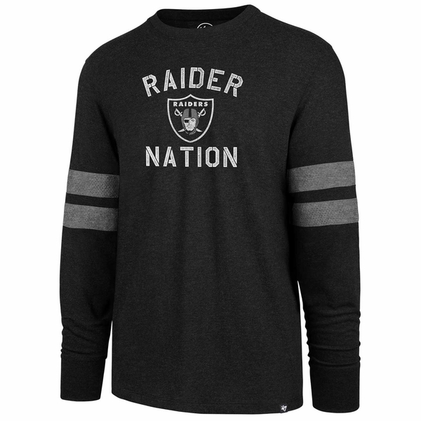Raiders 47 Brand Scramble Club Long Sleeve Tee