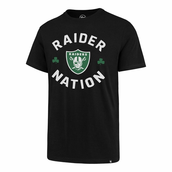 Raiders 47 Brand Super Rival Black St. Patrick's Day Tee