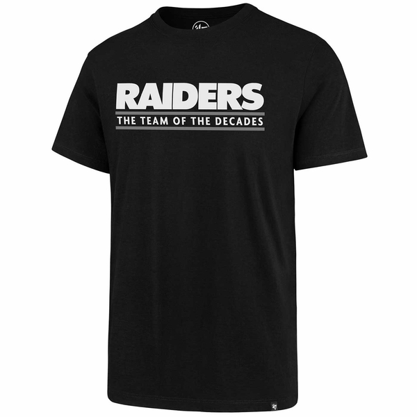 Raiders 47 Brand Team Of The Decades Two Sided Rival Black Tee