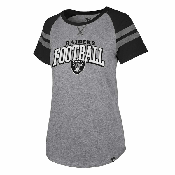Raiders 47 Brand Women's Flyout Raglan Tee