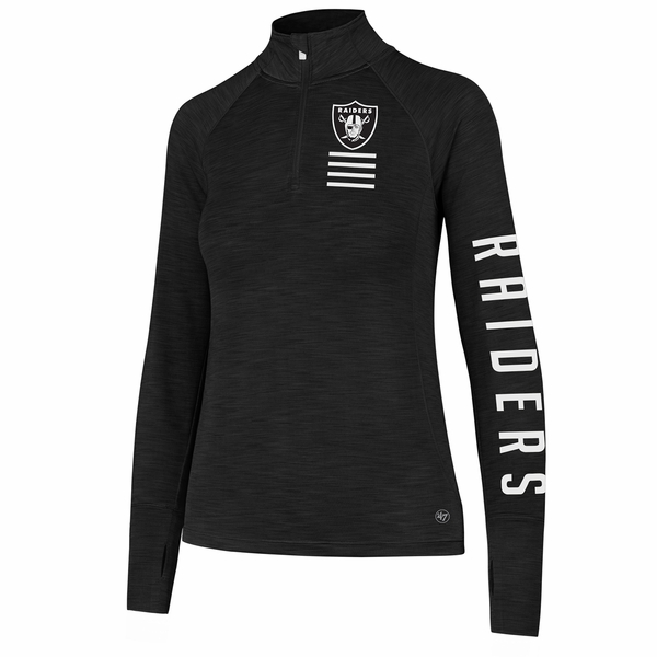 Raiders 47 Brand Women's Microlite Shade Quarter Zip