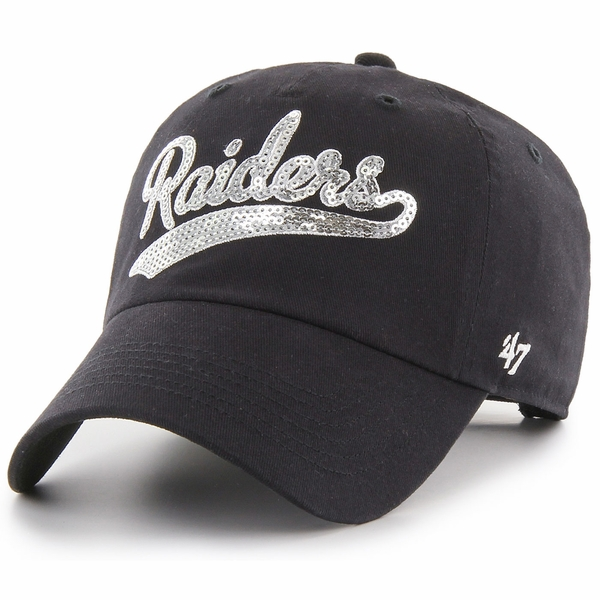 Raiders 47 Brand Women's Sparkle Swoop Cap