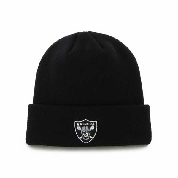 Raiders 47 Brand Youth Black Cuffed Knit Hat