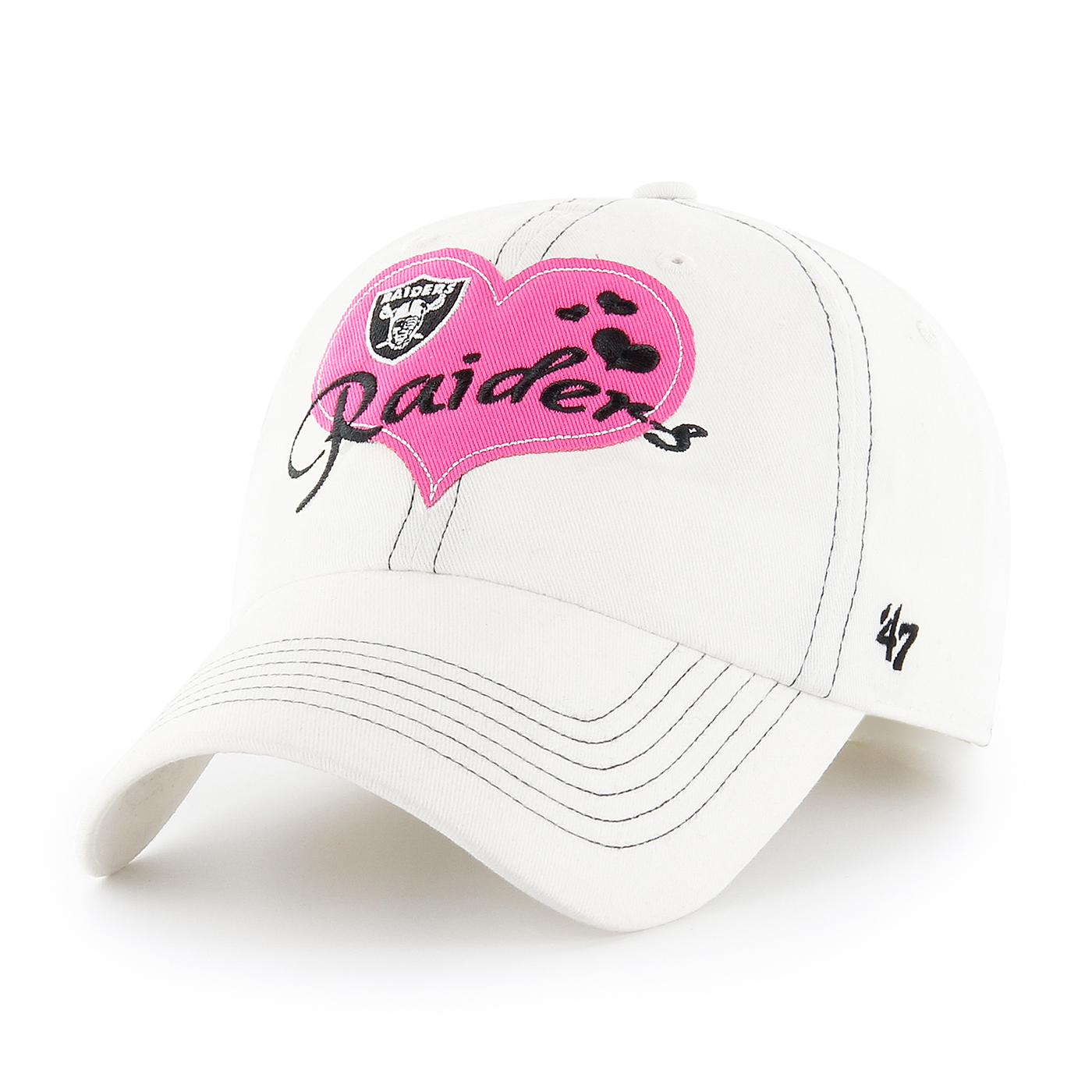 b63826d2 Raiders 47 Brand Youth Heart Throb Cap