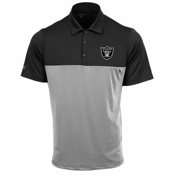 Raiders Antigua Venture Black Polo