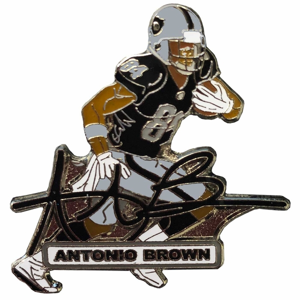 Raiders Antonio Brown Signature Pin