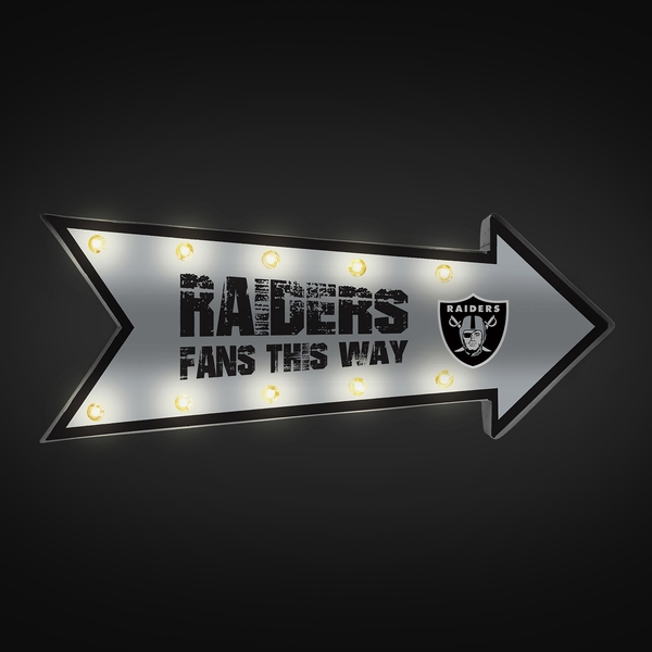 Raiders Arrow Marquee Sign